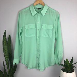 2 for $40 Black Label Spearmint Button Up Blouse